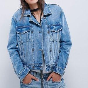 Free People Ramona Trucker Denim Jacket